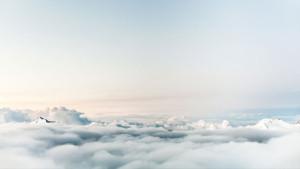 flight mountains sky flying