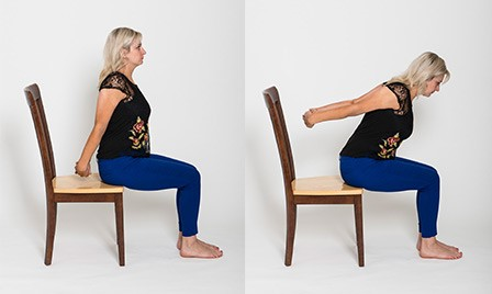 how to perform a seated chest opener pose in chair yoga