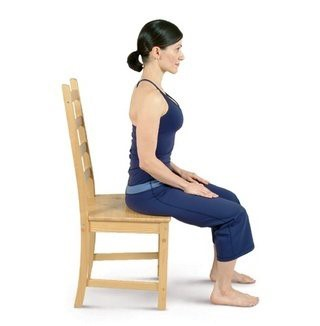 how to perform the chair mountain pose
