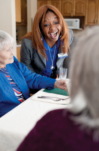the staff at Arden Courts are professional and engaged in the care of patients